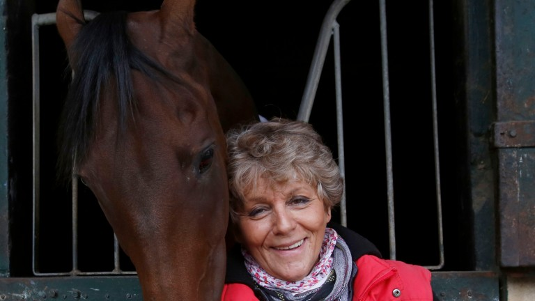 My 'Prince Charming': Corine Barande-Barbe at home in Chantilly with Cirrus Des Aigles