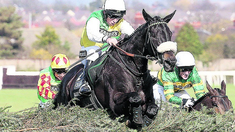 MANY CLOUDS ridden by Leighton Aspell and owned by Trevor Hemmings WINNER OF THE CRABBIE'S GRAND NATIONAL at Aintree 11/4/15Photograph by Grossick Racing Photography 0771 046 1723