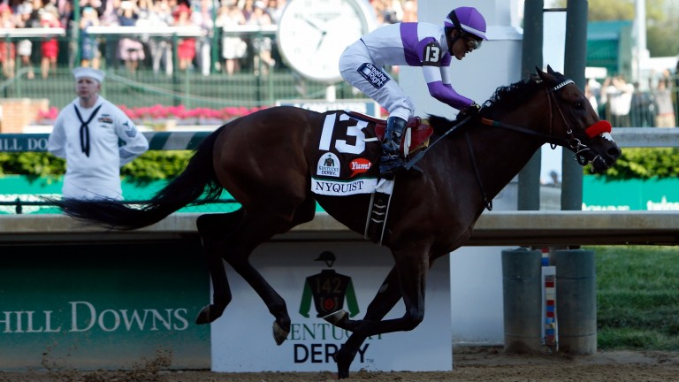 Nyquist: won first eight of 11 career starts but failed to score again after Kentucky Derby