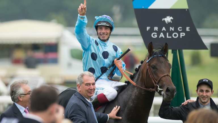 Almanzor after winning last year's Prix Du Jockey Club