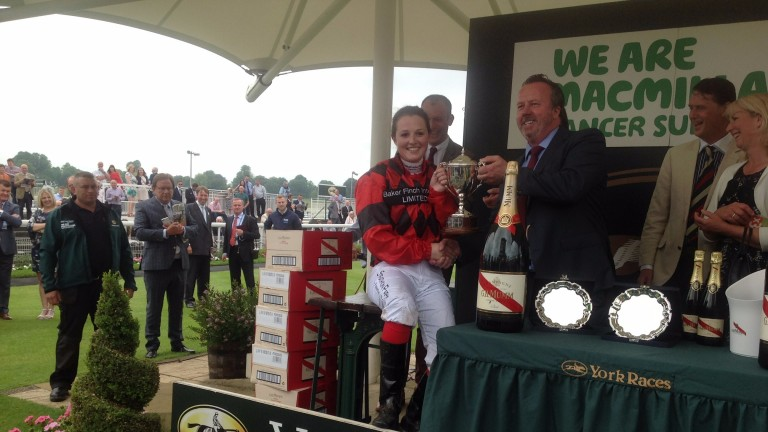 Emily Easterby: won her weight in champagne after winning the 2016 Queen Mother's Cup