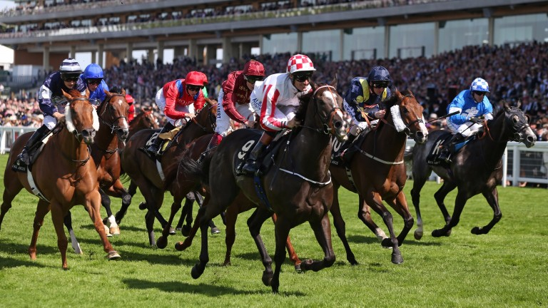 Sole Power on his way to victory in the 2014 King's Stand Stakes at Royal Ascot