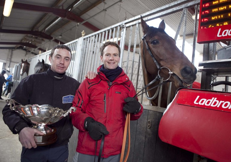 Tom Gibney (right): hopeful that The Nutcracker can complete a hat-trick of wins in the feature event at Ballinrobe on Monday evening