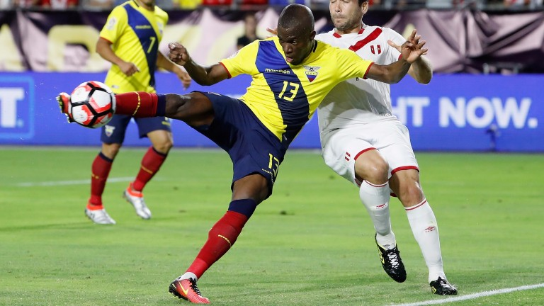 Enner Valencia in action for Ecuador