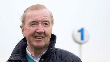 Dermot Weld, winning trainer of Zhukova Naas Photo: Patrick McCann 11.05.2016