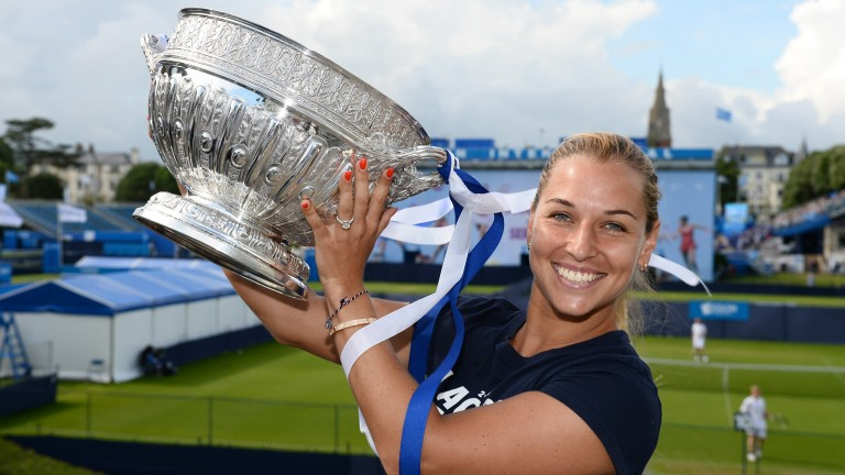 Dominika Cibulkova was triumphant at Eastbourne