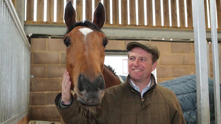 Ralph Beckett with his St Leger winner Simple Verse, dam of lot 1,025