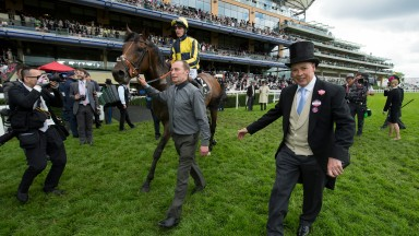 Royal reward: Clive Cox with My Dream Boat (Adam Kirby) after winning the Prince of Wales's Stakes at Royal Ascot