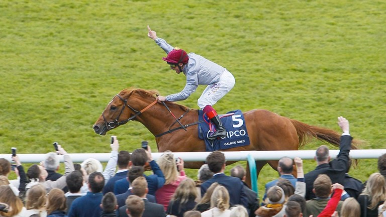 Galileo Gold, owned by Al Shaqab, wins the 2,000 Guineas in 2016 under Frankie Dettori