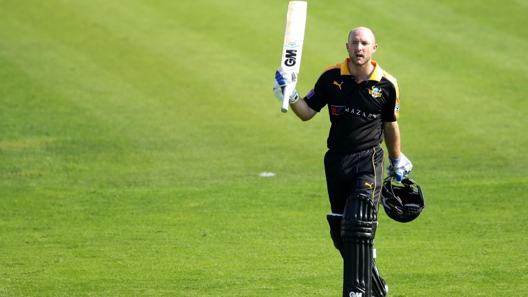 Yorkshire's Adam Lyth salutes the crowd