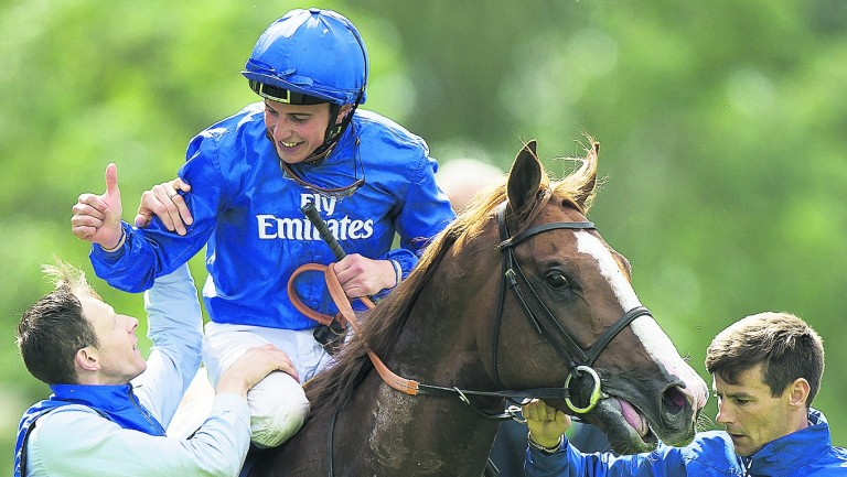 William Buick is all smiles after his Coral-Eclipse win on Hawkbill last season