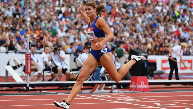 Dafne Schippers winning the Women's 200m during the Muller Anniversary Games