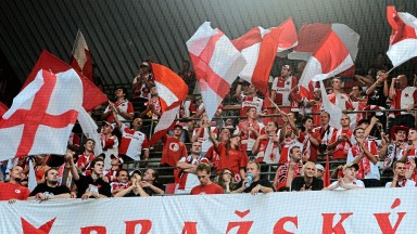 Slavia Prague supporters will hope to see their team beat BATE Borisov