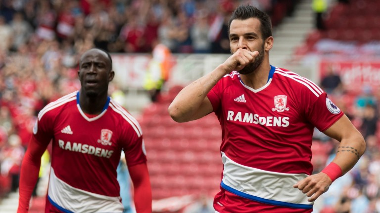 Alvaro Negredo scores for Middlesbrough