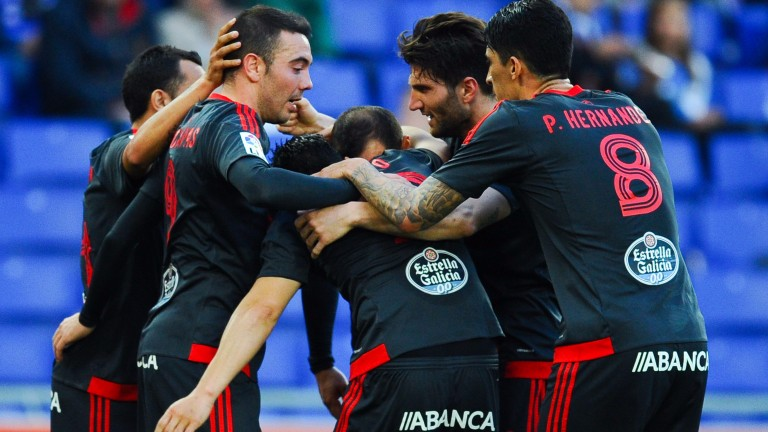 Celta Vigo celebrate last season's opening goal at Espanyol