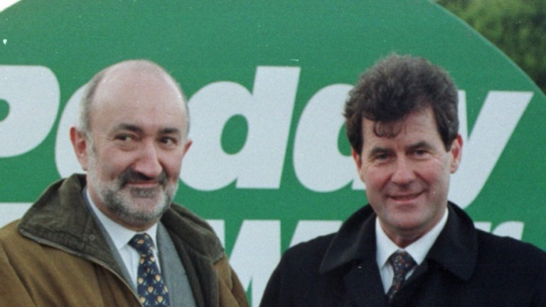Stewart Kenny (left, with JP McManus): left Paddy Power in 2016