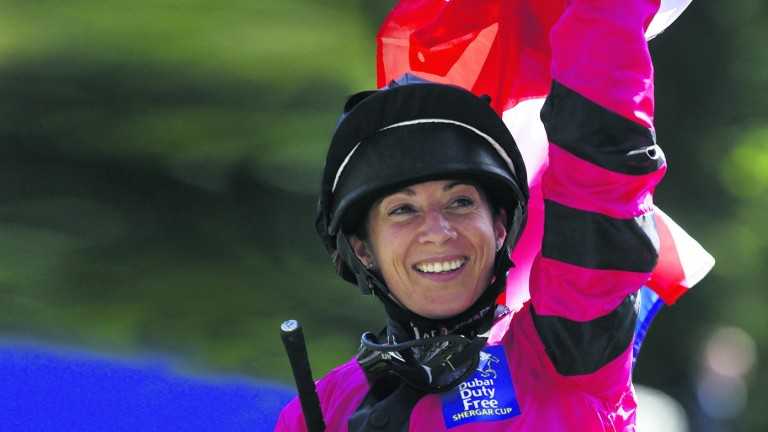 Hayley Turner: rode a winner at the Shergar Cup on her last comeback from retirement