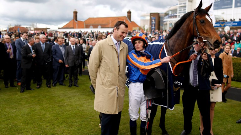 David Wachman after Legatissimo won the 2015 Qipco 1,000 Guineas