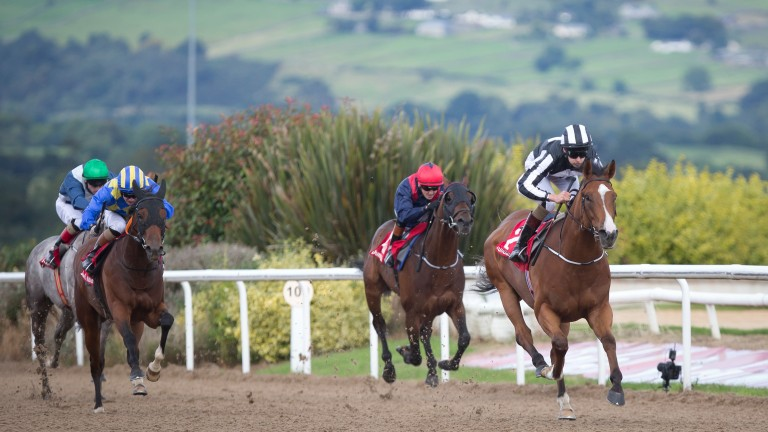 Cenotaph securing victory in a Dundalk apprentice maiden prior to joining Jeremy Noseda