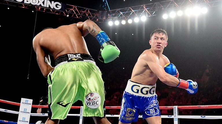 Gennady Golovkin delivers a thundering right hand