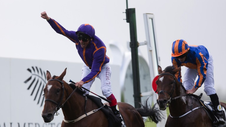 Wicklow Brave and Frankie Dettori beat Order Of St George to spring a surprise in the Irish St Leger