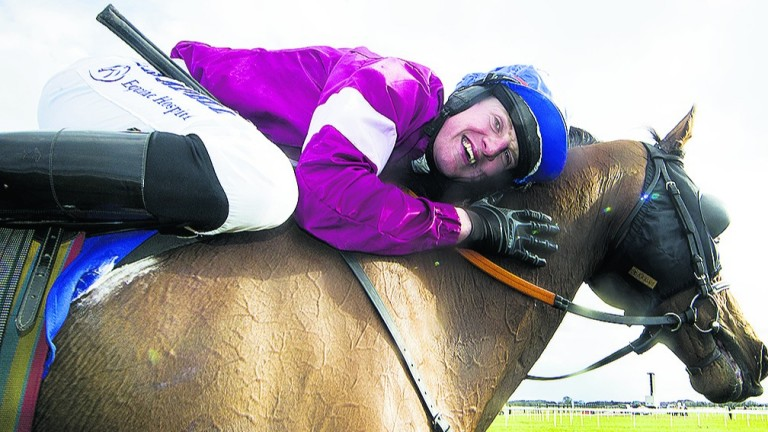 Irish Grand National winner Rogue Angel and Ger Fox