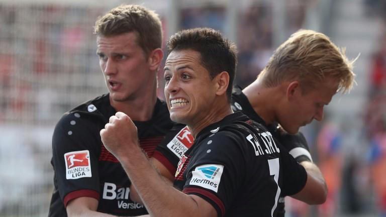 Leverkusen striker Javier Hernandez