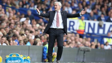 Mark Hughes will hope Stoke can continue their recent good form