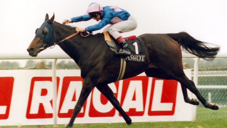Frankie Dettori pushes Fujiyama Crest to victory to bring up his Magnificent Seven at Ascot 21 years ago