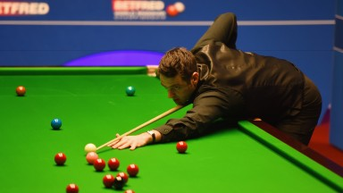 Ronnie O'Sullivan in action at the Crucible