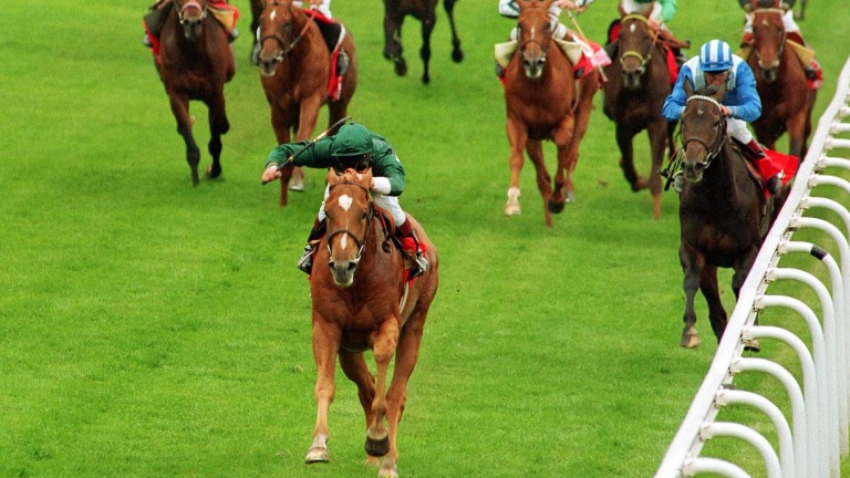 Generous - by the Nijinsky stallion Caerleon - romps home in the Derby