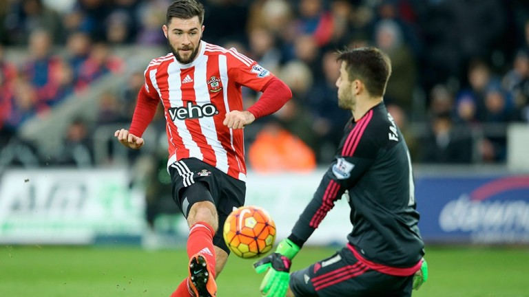 Southampton's Charlie Austin in action