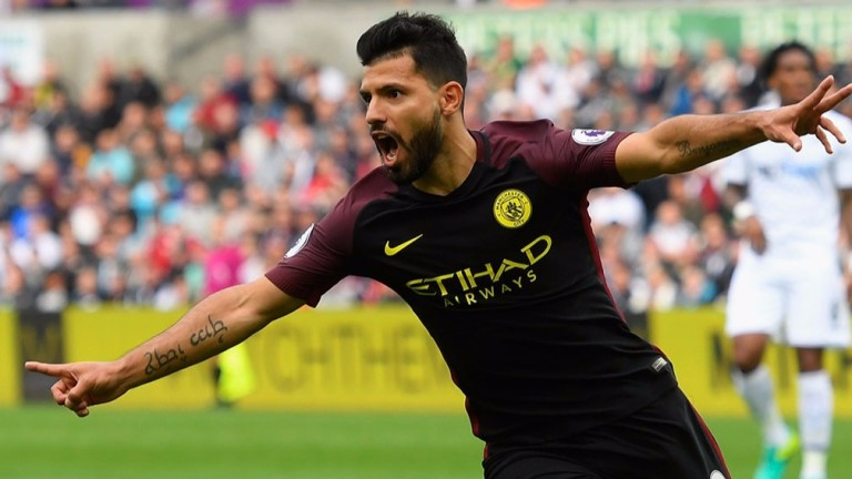 Sergio Aguero will be hoping he can help Manchester City progress