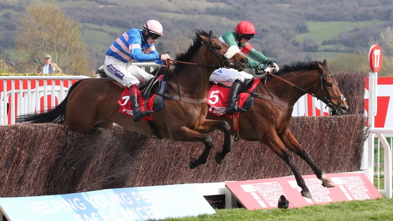 Voix D'Eau (far) on his way to winning this race in 2016