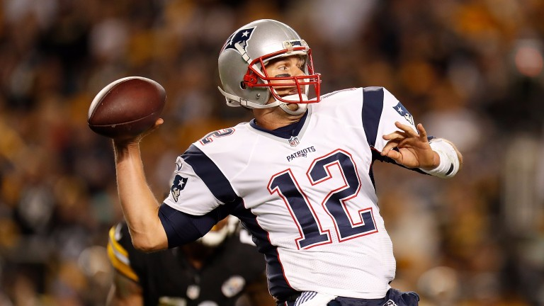 New England's Tom Brady missed the teams' firt meeting through suspension
