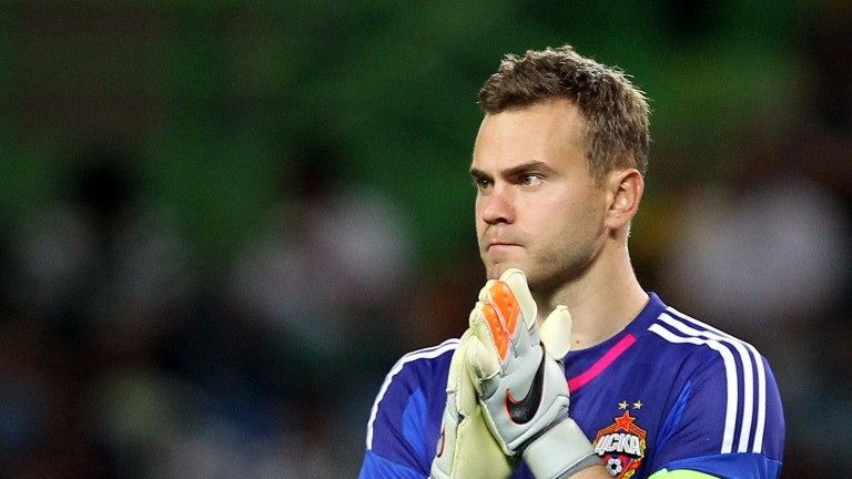 CSKA Moscow goalkeeper Igor Akinfeev is in for a busy night