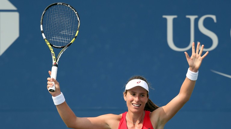 Johanna Konta relishes her win in the US Open over Garbine Muguruza
