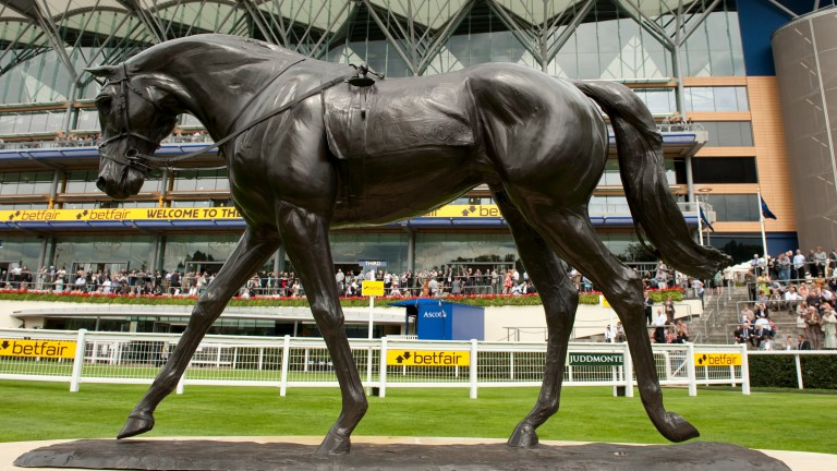 Known for the Yeats statue at Ascot, Charlie Langton has worked on the royal project at Newmarket.