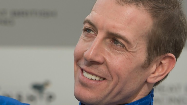 Jim Crowley: partners Ertijaal in his first big turf race at Meydan as retained rider to Hamdan Al Maktoum