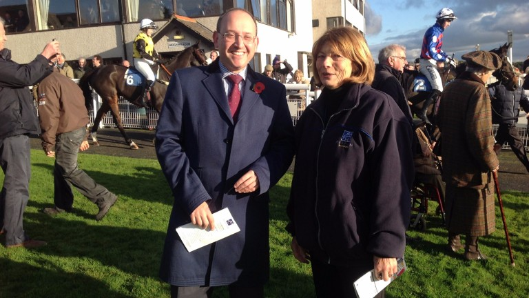 Levy Board chief executive Alan Delmonte (left, with course general manager Lynn Clemitson) enjoyed his first visit to Hexham
