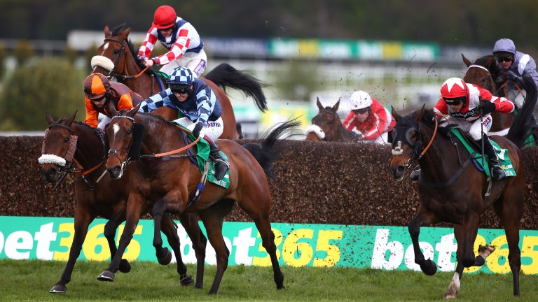 The Young Master (left) and Southfield Theatre (red cap) met in last season's Bet365 Gold Cup