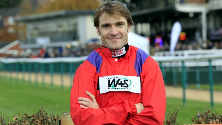 Tom Scudamore at Warwick on Friday: dreaming of Gold Cup glory, 60 years after his grandfather Michael won on Linwell