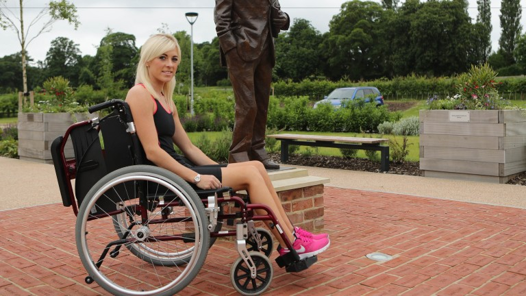 Sammy Jo Bell  is now out of a wheelchair and hopes to be back riding out next month