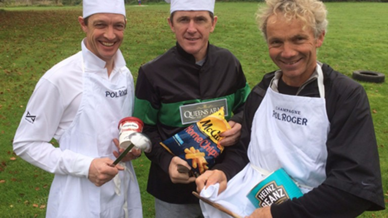 Richard Hughes, Sir Anthony McCoy and John Francome will swap the saddle for the kitchen