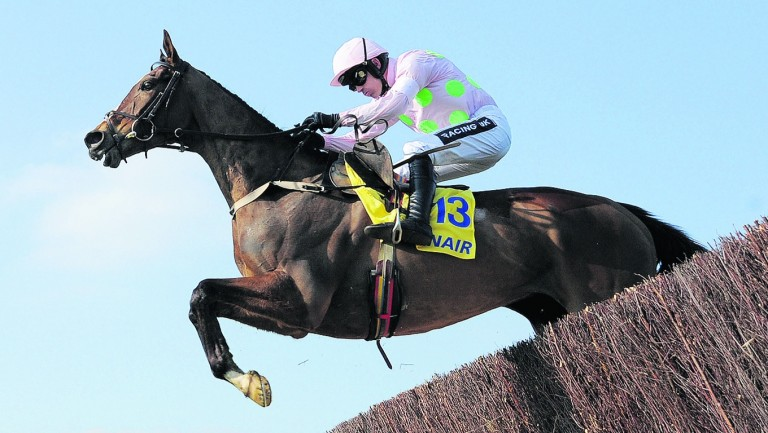 Vautour and Ruby Walsh on their way to victory in the Ryanair Chase