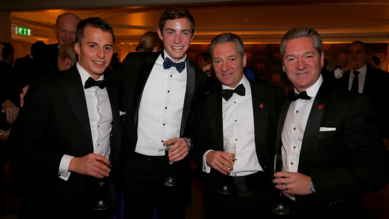 William Buick, James Doyle, Richard Hills and Michael Hills at the Cartier Awards