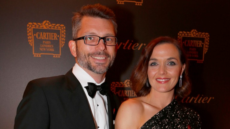 Victoria Pendleton with her husband Scott Gardner at the Cartier Awards