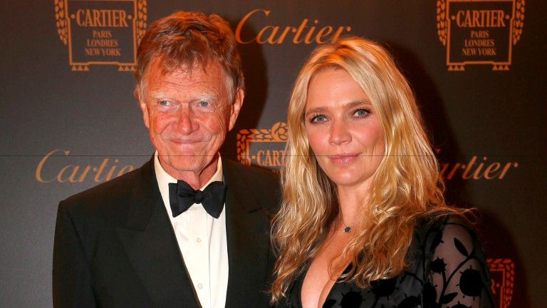 Jodie Kidd with her father John at the Cartier Awards