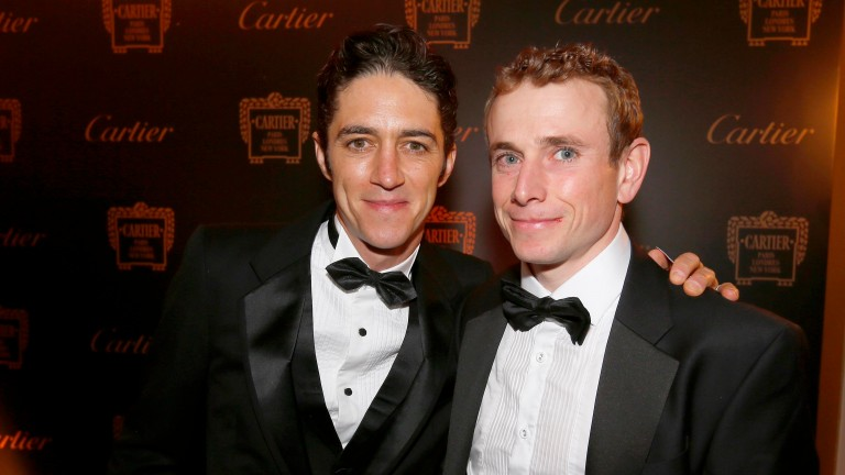 Christophe Soumillon and Ryan Moore at the Cartier Awards