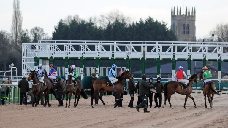 Southwell: heavy rain proved too much for the all-weather track to contend with